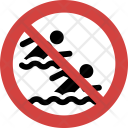 Swimming race not allowed Icon