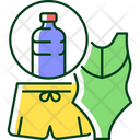Swimsuit Recycle Waste Icon