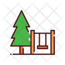 Swing and tree Icon