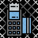 Swipe Card Swipe Machine Bill Generator Icon