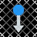 Swipe Down Icon