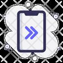Mobile Right Swipe Icon