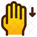 Swipe Down Hand Icon
