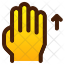 Swipe Up Hand Icon