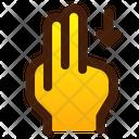 Swipe Down Arrow Icon