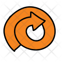 Swirl Arrow Icon