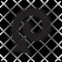 Swirl Arrow Loop Icon