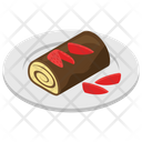 Swirl Roll Snack Fast Food Icon
