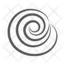 Swirl Roll Cinnamon Roll Snack Icon