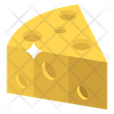 Swiss Cheese Slice Piece Icon