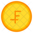 Swiss Franc Coin Currency Icon