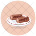 Swiss Rolls Jelly Rolls Cream Roll Icon