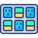 Switchboard Electricity Control Circuit Icon