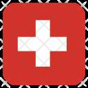 Switzerland Pantone Flag Icon