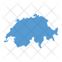 Switzerland Map Country Icon