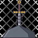 Sword Stone Rose Icon