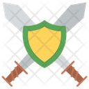 Cleaver Combat Knife Sword With Shield Icon