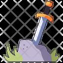 Sword Stone Ancient Icon