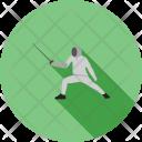 Sword Fighting Fence Icon