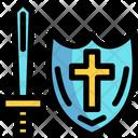 Sword And Shield Sword Shield Icon