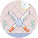 Sword Fighting Cross Sword War Fighting Tool Icon