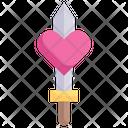 Sword In Heart Icon