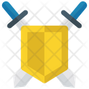 Sword Shield Vintage Tool Protection Icon
