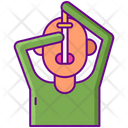 Sword Swallower Circus Perfomance Icon