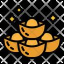Gold Ingots Chinese Icon