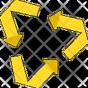 Symbols Pointing Arrows Yellow Arrows Icon