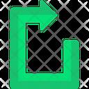 Symbols Indication Arrows Gps Icon