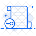 Symmetric Encryption Document Security File Security Icon