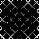 Symmetrical Snowflake Icon
