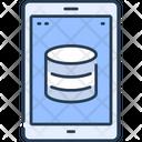 Sync Databse Via Smartphone Icon