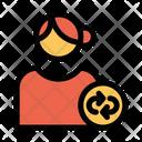 Sync User Sync Profile Female Profile Icon
