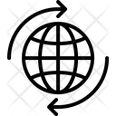 Globe Synchronization World Wide Loading Arrows Icon