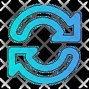 Synchronize Synchronization Sinc Icon
