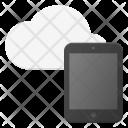Tablet Symbol Cloud Icon