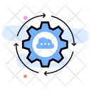 Cloud Update Cloud Syncing Maintenance Icon