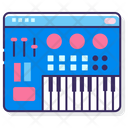 Synthesizer Keyboard Midi Icon