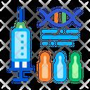 Syringe Ampoules Biohacking Icon