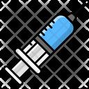 Plastic Syringe Medical Syringe Injection Icon