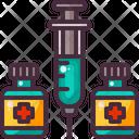 Medical Syringe Vaccine Icon