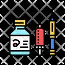 Syringe And Bottle Icon