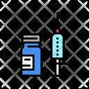 Syringe And Bottle Injection Syringe Icon