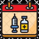 Vaccination Date Vaccine Syringe Icon
