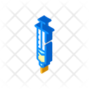 Syringe Insulin Isometric Icon