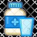 Icon Tablets Jar Water Medicne Health Icon