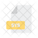 Sys File Format Icon