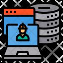 Laptop Engineer Server Icon